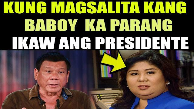 Viral Video:  Jessica Soho Binaboy Si President Digong Sa Kanyang Interview! Must Watch