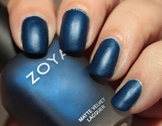 Zoya Matte Velvets for Winter 2015 - Yves
