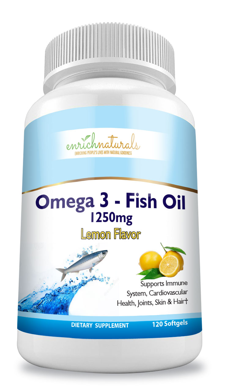 Omega 3 Fish Oil - Lemon Flavor