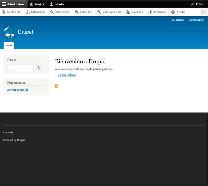 Instalación de limpia de Drupal 8