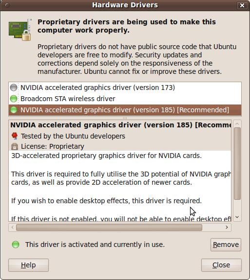 Update proprietary software drivers (Nvidia And ATI) in Ubuntu with