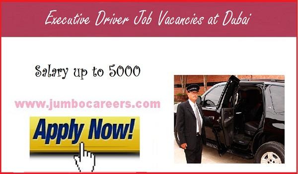 Dubai jobs with salary, Executive driver jobs in Gulf countries,
