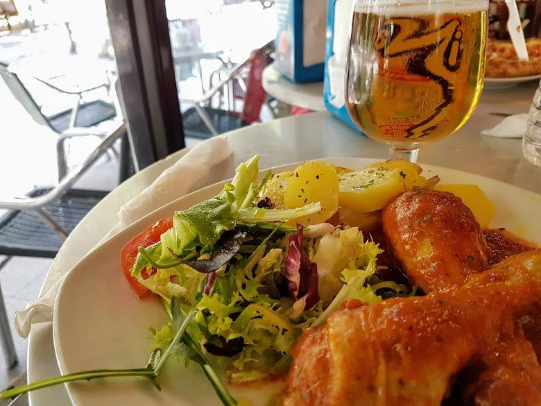 午餐-雞肉與啤酒
