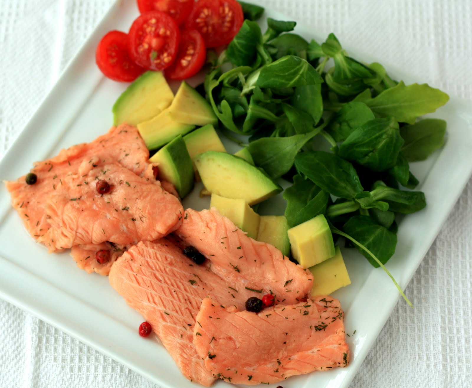 marinado de salmon