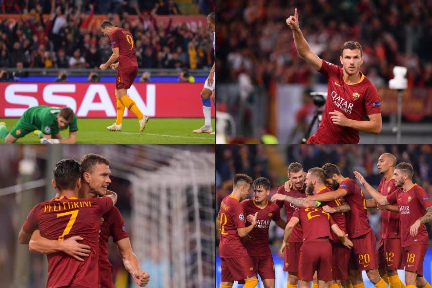 ROMA-CSKA Mosca risultato finale 3-0: gol di Under (50') e doppietta Dzeko (30' 43').
