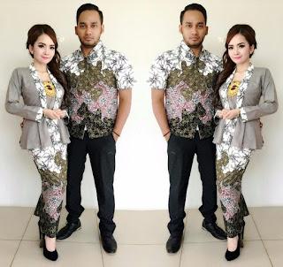 Model Baju Batik Couple Kombinasi Terbaru 2018
