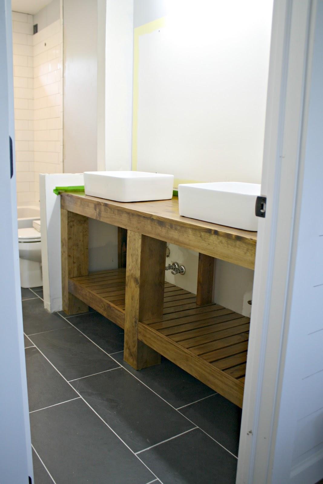 Finished DIY bathroom vanity! | WHITE HOMES