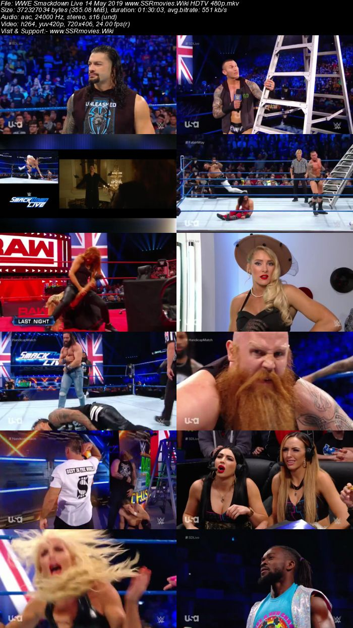 WWE Smackdown Live 14 May 2019 Full Show Download 480p 720p HDTV WEBRip HDRip