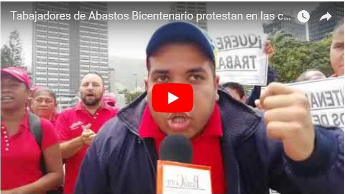 Tabajadores de Abastos Bicentenario a punto de perder sus empleos protestan en las calles