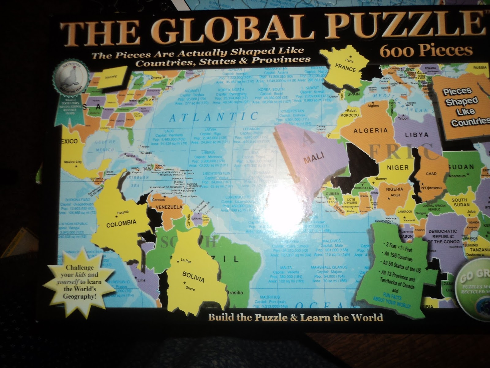 World Map For Sale Amazon. I found it for sale on amazon at this link  http www com Reveal Ent The Global Puzzle dp B00007J5X9 the Plain Professors What a Wonderful World