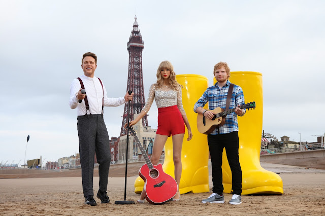 Summer Festival Fun at Madame Tussauds Blackpool Waxworks Taylor Swift Ed Sheeran Olly Murs