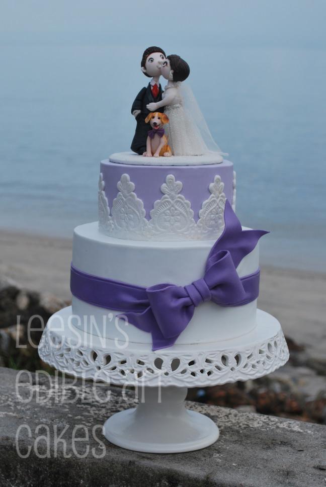 Penang Wedding Cakes By Leesin Purple Wedding Cake