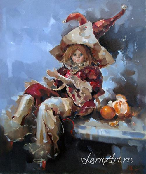 Рождество, картина маслом