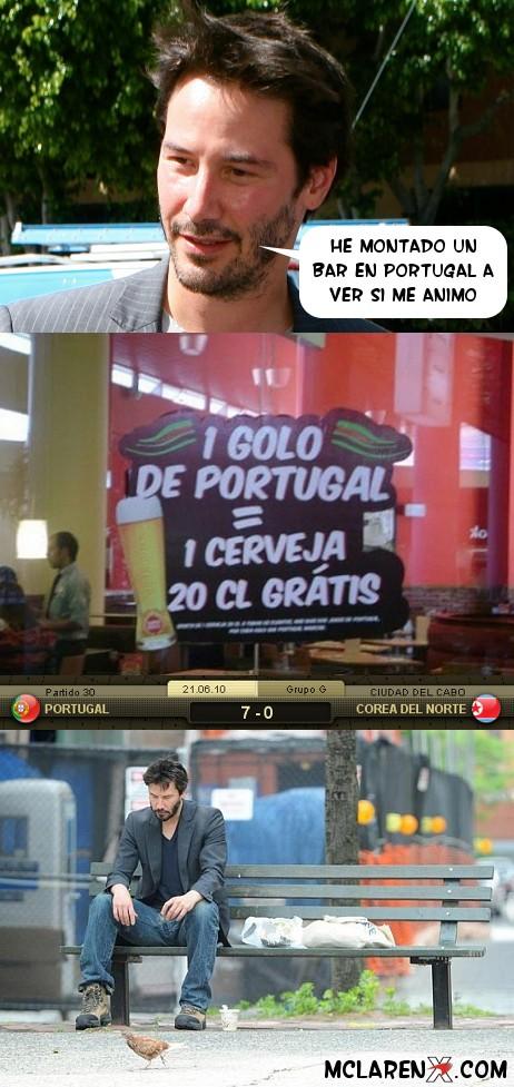 Keanu y su bar en portugal