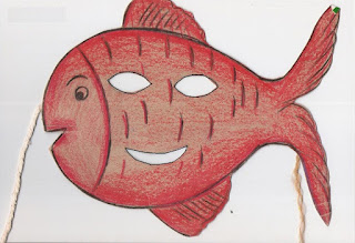 Páscoa máscara de peixe