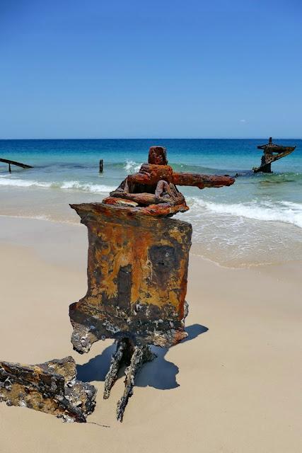 Bulwer Wrecks Schiffs-Wracks Rost Strand Moreton Island Rost verrostet