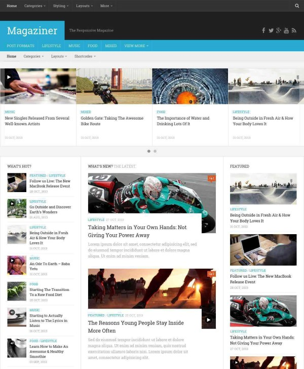 Magaziner responsive magazine style theme