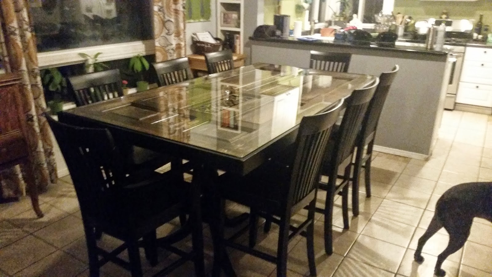 A Dining Room Table Made Out Of Door You Gotta See This