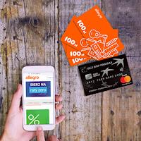 Promocja karty kredytowej w BGŻ BNP Paribas z bonami Allegro o wartości 400 zł