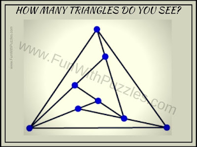 Triangles counting picture puzzle