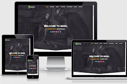 Basil Portfolio Responsive Blogger Template Free Download