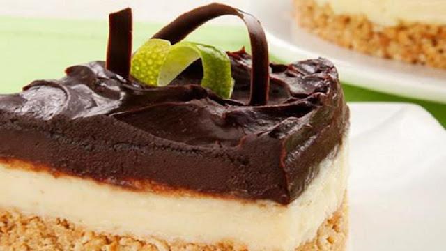 Receita de torta de limão com cobertura de chocolate (Imagem: Reprodução/Pioneiro-clicRBS)