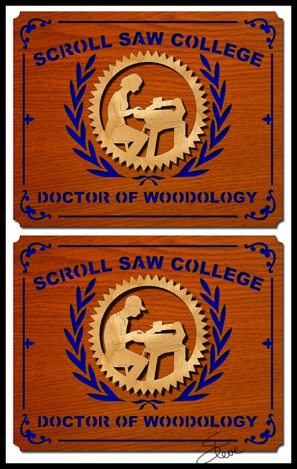 3d Scroll Of Parchment Photo: Scrollsaw Workshop: Doctor Of Woodology Scroll Saw Pattern