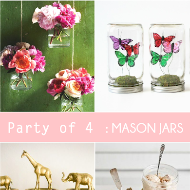 Unexpected Party Ideas using Mason Jars