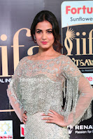 Sonal Chauhan in a stonework Floor Length Silver Designer Gown at IIFA Utsavam Awards March 2017 001.JPG