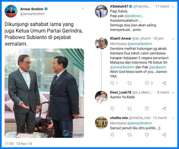 Pertemuan Prabowo dengan Anwar Ibrahim, Harapan Dua Jiran Berjaya