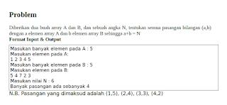 Menentukan Banyaknya Pasangan Bilangan Dengan Java