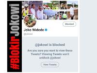 Pertama Di Dunia, Akun Presiden Diblokir Rakyatnya Sendiri, #BlokirJokowi Menggema