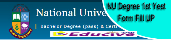 NU degree 1st year form fill up notice