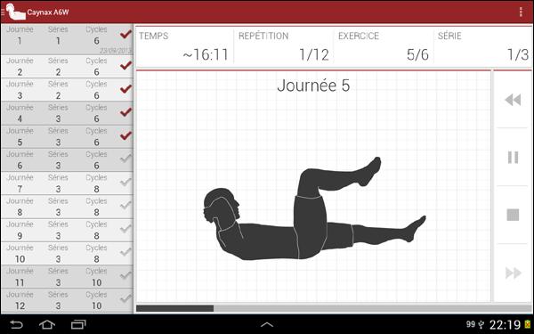 Caynax A6W , programme d'entraînement pour les abdominaux