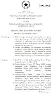 LAMPIRAN Nomor SE-13/PB/2016 Tahun 2016 Pelaksanaan Peraturan Presiden Nomor 154 Tahun 2015 Tukin Pegawai Kemenag