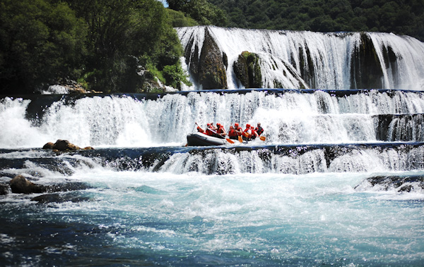 Rafting on Una River, Bosnia and Herzegovina