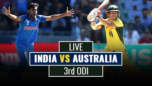 India vs Australia 3rd ODI Live Score and Updates