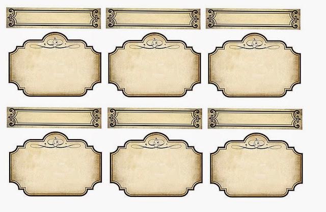 Free Printable Parchment Labels.
