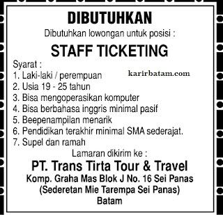 Lowongan Kerja PT. Trans Tirta Tour & Travel