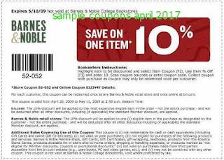 free Barnes and Noble coupons for april 2017