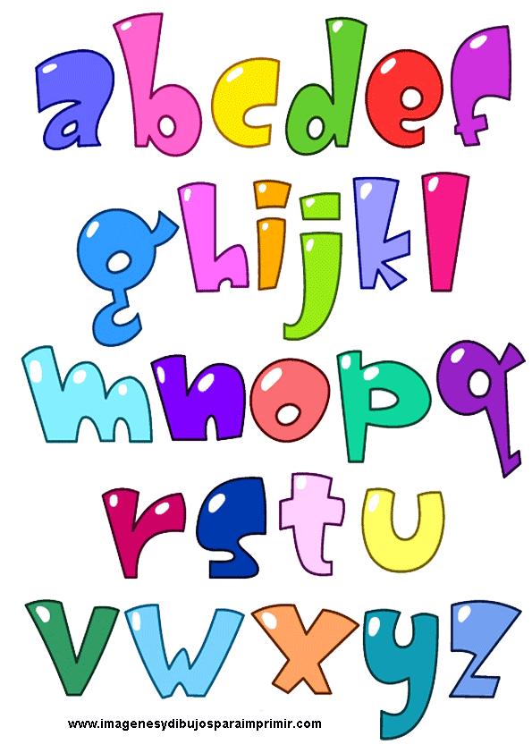 Letras de colores imagenes y dibujos para imprimir - Lettres alphabet originales ...