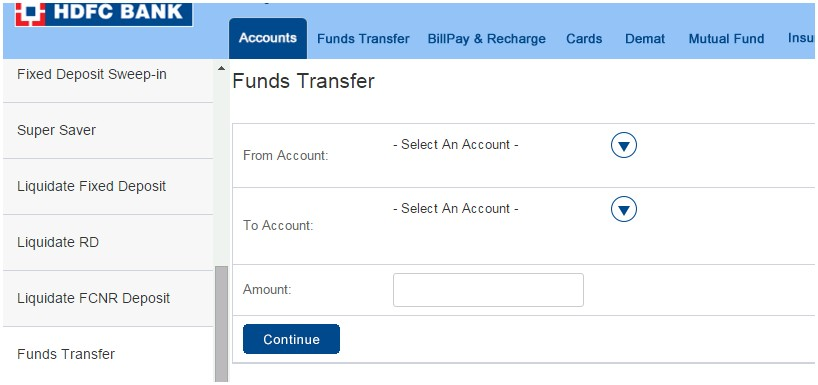 how to transfer money to ppf account online from hdfc bank