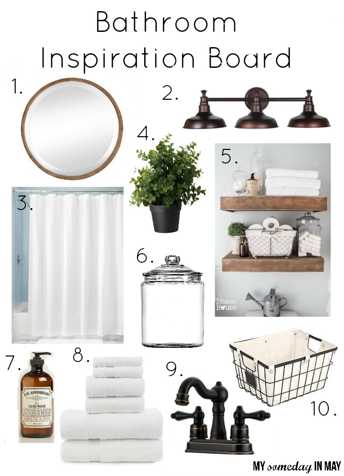 Guest Bathroom Inspiration Board My Someday In May