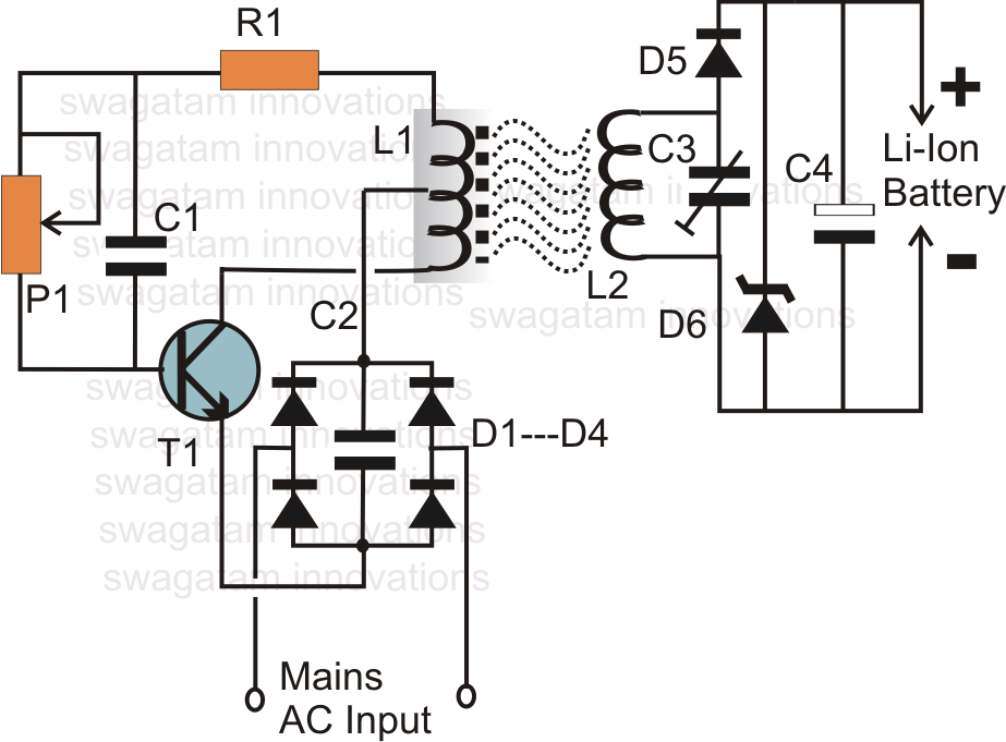 Wireless Li-Ion Battery Charger Circuit ~ Electronic