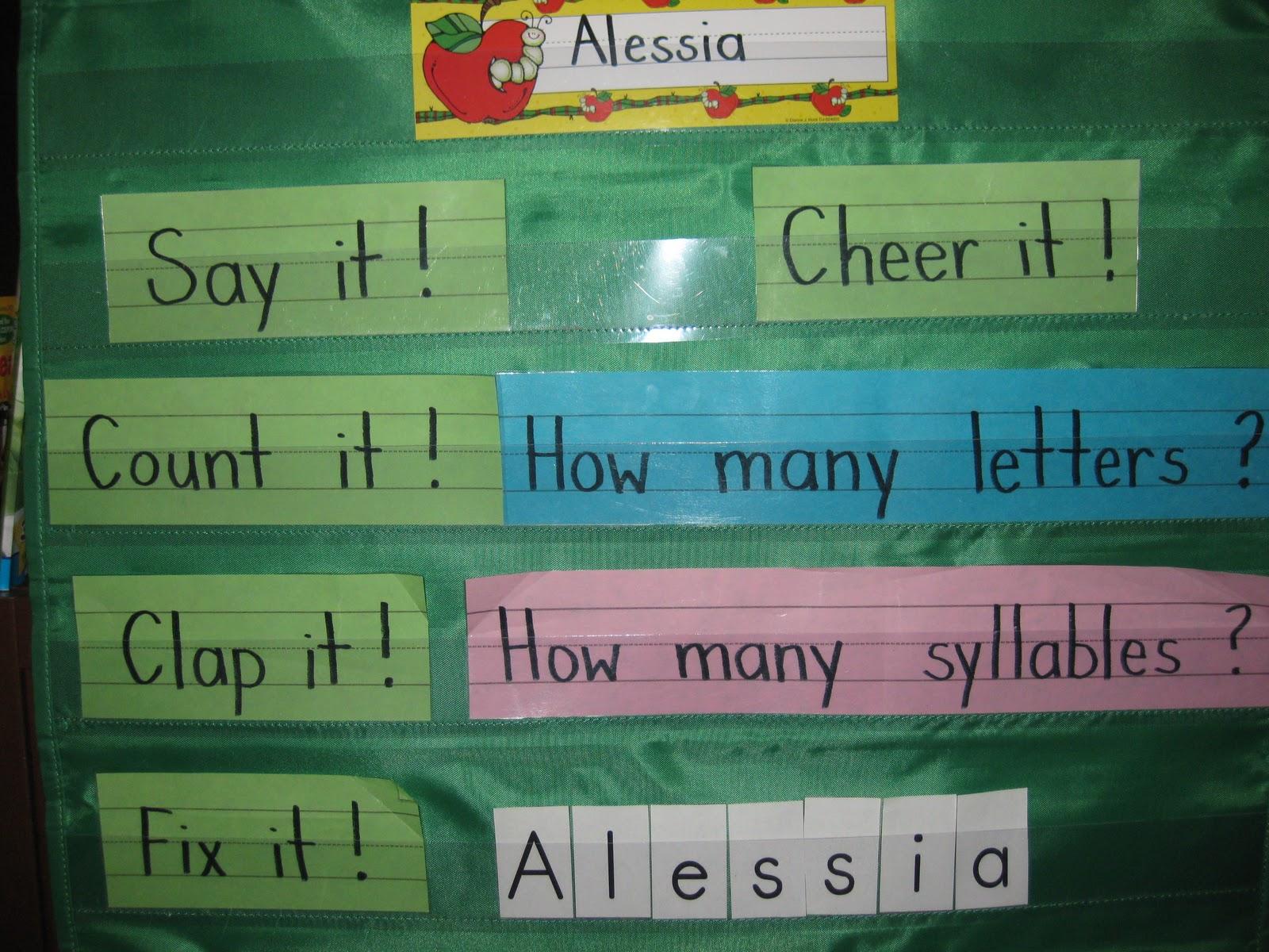 Mrs Albanese S Kindergarten Class Syllable Fun