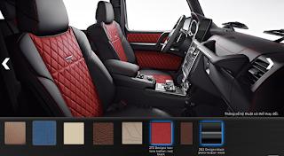 Nội thất Mercedes G500 2018 màu Đen / Đỏ ZF5