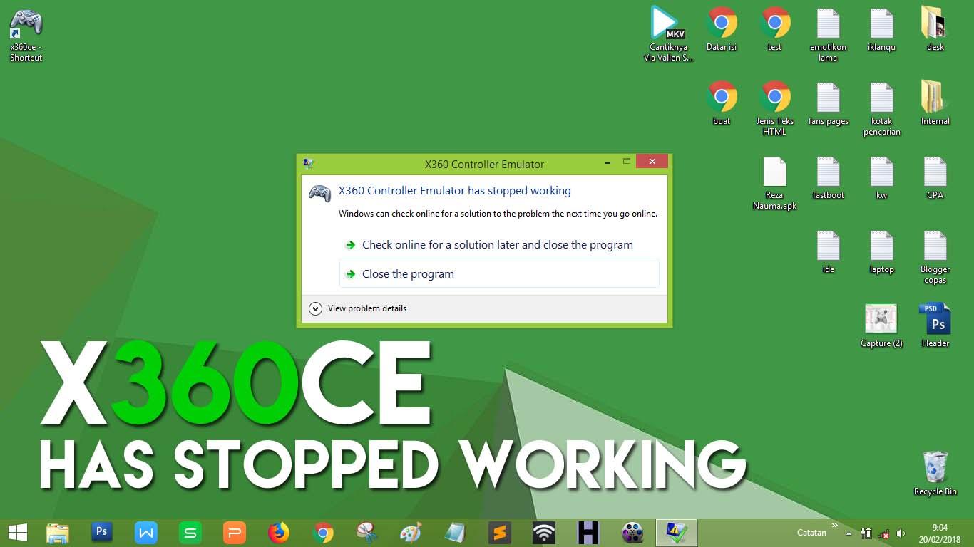 Cara Mengatasi X360 Controller Emulator has Stopped Working