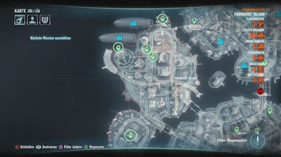 Batman Arkham Knight, The Line of Duty, Founders island, Firefighters Locations map