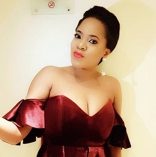 Toyin Aimakhu bares cleavage as she steps out for 3 Thrones