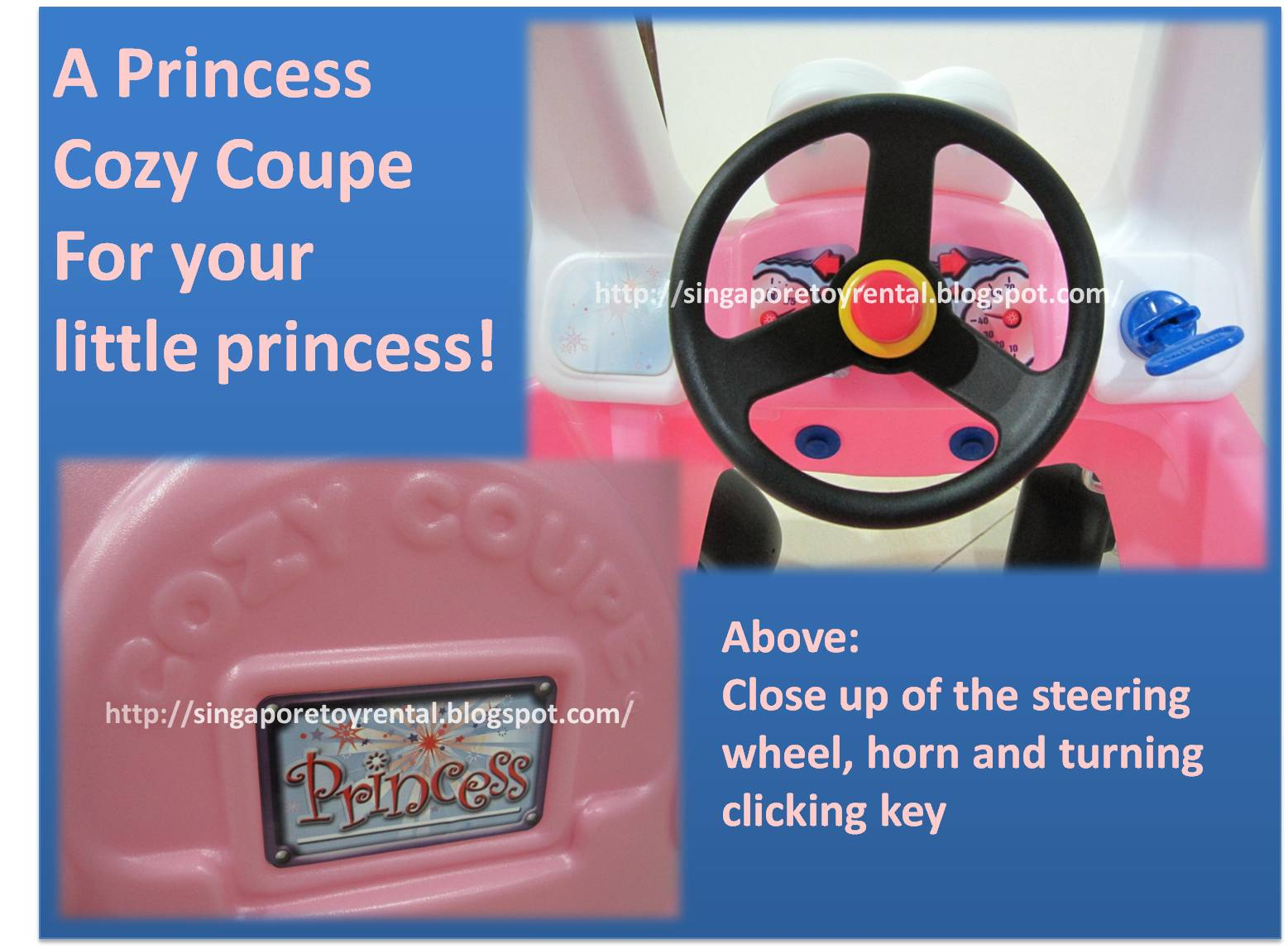 Singapore Toy Rental Princess Cozy Coupe 174 30th